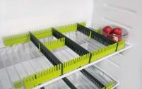 Purvario by Dörr rails de rangement pour réfrigérateurs set de 8 anthracite / lime gris / lime