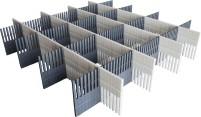 Purvario Pure Light Edition Stauleisten Set für Schubladen 8 Stück anthrazit / grey light grey / ant