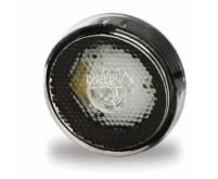 Feu de balisage LED, encastré, D=60mm, lentille blanche, câble 20cm en vrac