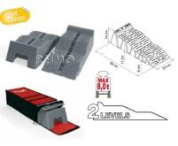 Stufenkeile Fiamma Kit level Up Jumbo grau mit Tas che,bis 8t pro Achse