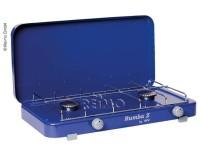 Réchaud à gaz Rumba avec couvercle 2Fl. bleu, 50mbar