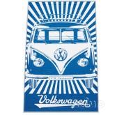 Serviette de plage VW Collection Bulli bleu