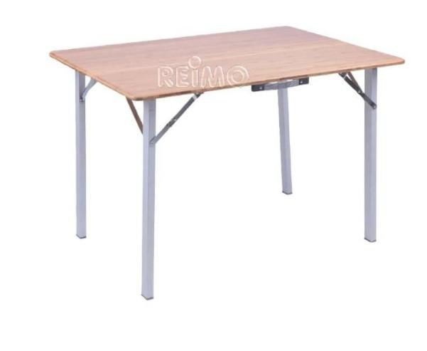 Bambus-Tisch CATANIA BIG mit Aluminiumgestell, 100 x72x68,5cm