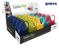 Gimex Glas/Getränkehalter - Tisch-Clips - 4x5 Farb en=20Stk. im Display