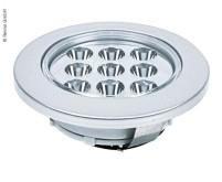 LED-Einbaulampe, 9 SMD LED (ohne Schalter), silber , 1,5 Watt, 144Lumen