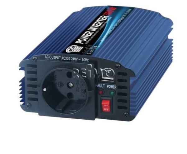 carbest Inverter 12/230V 600W mit USB Anschluss