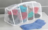 Berger Sac à linge en filet 4 compartiments 4 petits compartiments